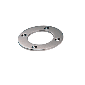 "CRL SA25BS Brushed Stainless Round Base Plate for 1-1/2"" Round Tubing"
