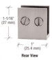 """CRL EH35 Brushed Nickel Double Set Screw Clamp for 1/4"""" to 5/16"""" Glass"""