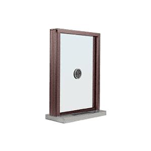 "Dark Bronze Aluminum Standard Inset Frame Exterior Glazed Exchange Window with 12"" Shelf and Deal Tray"