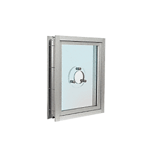CRL C0VEA Satin Anodized Aluminum Clamp-On Frame Exterior Glazed Vision Window