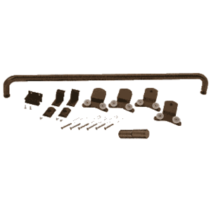 "CRL DK3872600RB Oil Rubbed Bronze 72"" x 60"" Cottage DK Series Sliding Shower Door Kit with Metal Jambs for 3/8"" Glass"