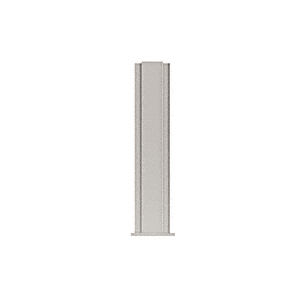 "CRL PP4324CBS Brushed Stainless 24"" High 1-1/2"" Square PP43 Plaza Series Counter/Partition Center Post"