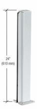 """CRL D990A24E Satin Anodized 24"""" End Design Series Partition Post"""