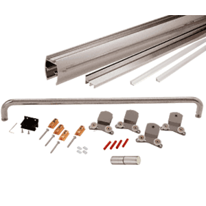 "Brushed Nickel 72"" x 80"" Cottage CK Series Sliding Shower Door Kit with Clear Jambs for 3/8"" Glass"