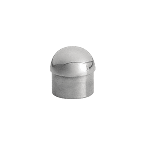 "CRL HR15DPS Polished Stainless Dome End Cap for 1-1/2"" Tubing"