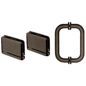 CRL PPHS30RB Oil Rubbed Bronze Prima Shower Pull and Hinge Set