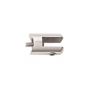 "CRL SA60PS Polished Stainless Fixed Glass Fitting for 1-1/2"" Tubing"