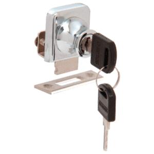 """CRL LK42 Chrome Lock for 1/4"""" Cabinet Glass Door - Randomly Keyed"""