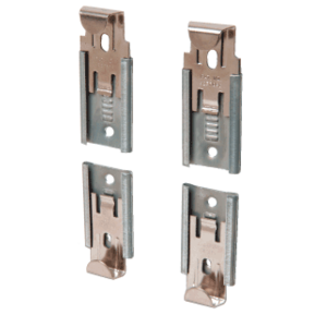 "CRL 64114 Nickel Plated Adjustable Mirror Clip Set for 1/4"" Seamed Mirror"