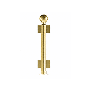 "CRL PP04CPB Polished Brass 16"" Round PP04 Elegant Series Counter/Partition Center Post With Air Space"