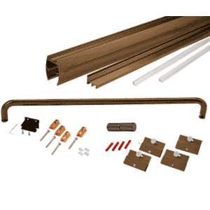"""CRL CK1460600RB Oil Rubbed Bronze 60"""" x 60"""" Cottage CK Series Sliding Shower Door Kit with Clear Jambs for 1/4"""" Glass"""
