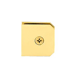 CRL M0638GP Gold Plated Monaco Series Fixed Panel U-Clamp