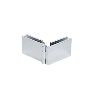 CRL EH136 Chrome 90 Degree Glass-to-Glass Showcase Hinge