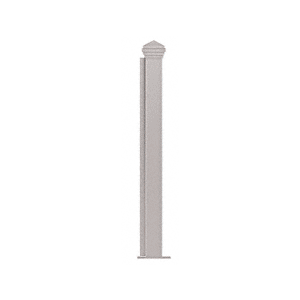"""CRL PP44EBS Brushed Stainless 18"""" High 1-1/2"""" Square PP44 Plaza Series Counter/Partition End Post"""