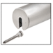 """CRL GR15SECBS Brushed Stainless Stabilizing End Cap for 1-1/2"""" Cap Railing"""