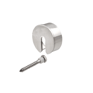 "CRL GR15SECBS Brushed Stainless Stabilizing End Cap for 1-1/2"" Cap Railing"