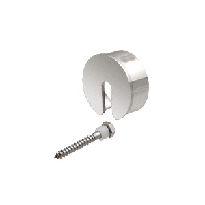 "CRL GR15SECPS Polished Stainless Stabilizing End Cap for 1-1/2"" Cap Railing"