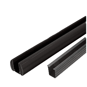 "CRL BR60KBL Black AWS 60"" Bottom Rail Kit with Rigid Glazing Vinyl"