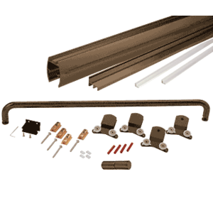 "Oil Rubbed Bronze 60"" x 72"" Cottage CK Series Sliding Shower Door Kit With Clear Jambs for 3/8"" Glass"