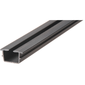 "CRL 14BV Bottom Rail Vinyl for 1/4"" Monolithic and 5/16"" Thick Laminated Glass - 12'"