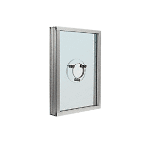 CRL S1VEA Satin Anodized Aluminum Standard Inset Frame Exterior Glazed Vision Window