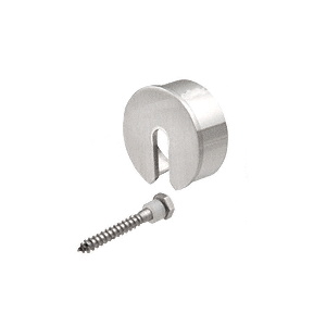 "CRL GR25SECBS Brushed Stainless Stabilizing End Cap for 2-1/2"" Cap Railing"