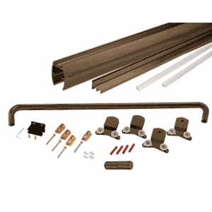 "Oil Rubbed Bronze 60"" x 80"" Cottage CK Series Sliding Shower Door Kit with Clear Jambs for 3/8"" Glass"
