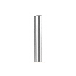 "CRL PP0824LPS Polished Stainless 24"" Round PP08 Elegant Series Counter/Partition Corner Post"