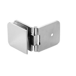 CRL ADJ037CH Polished Chrome Adjustable Wall Mount Glass Clamp
