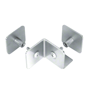 CRL PB003PS Polished Stainless Bullet Resistant Protective Barrier System 90 Degree Bottom Mount Outside Clamp