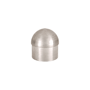 "CRL HR15DBS Brushed Stainless Dome End Cap for 1-1/2"" Tubing"