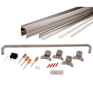 """CRL CK387272BN Brushed Nickel 72"""" x 72"""" Cottage CK Series Sliding Shower Door Kit With Clear Jambs for 3/8"""" Glass"""