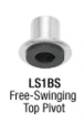 CRL LS14BS Brushed Stainless Laguna Series Pivot Door for Use With Free-Swinging Doors