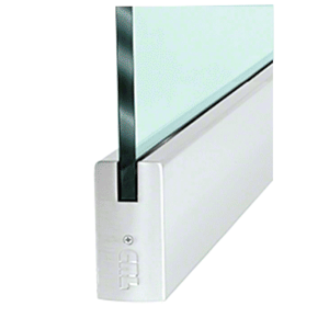 """CRL DR4SSA34S Satin Anodized 3/4"""" Glass 4"""" Square Door Rail Without Lock - 35-3/4"""" Length"""