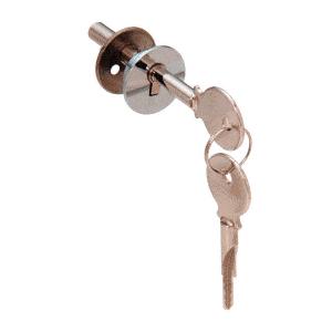 CRL LK16KA Chrome Keyed Alike Lock for Cabinet Sliding Glass Door