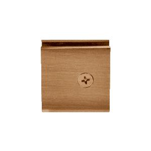 CRL SGCU1ABR Antique Brass Square Style Notch-in-Glass Fixed Panel U-Clamp