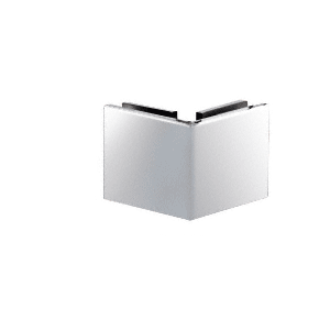 CRL SGC90CH Polished Chrome Square 90 Degree Glass-to-Glass Clamp