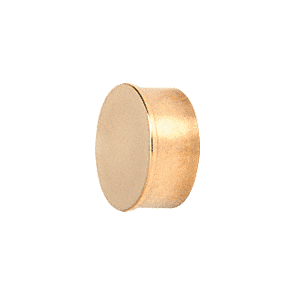 "CRL HR10FPB Polished Brass Flat End Cap for 1"" Round Tubing"