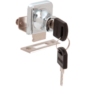 """CRL LK342KA Chrome Lock for 3/8"""" Glass Door - Keyed Alike"""