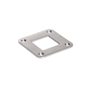 "CRL SA30BS Brushed Stainless Square Base Plate for 1-1/2"" Square Tubing"