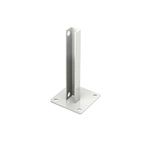 CRL PSB2AW Sky White AWS Steel Stanchion for 90 Degree Round Corner Posts