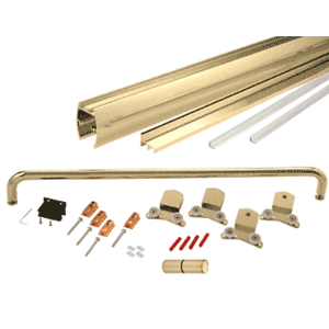 """CRL CK387260BGA Brite Gold Anodized 72"""" x 60"""" Cottage CK Series Sliding Shower Door Kit With Clear Jambs for 3/8"""" Glass"""