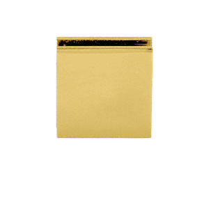 CRL SGCU1BR Brass Square Style Notch-in-Glass Fixed Panel U-Clamp