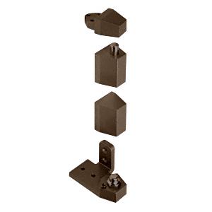 """CRL 0P31LHDU Dark Bronze Offset Left Hand Pivot Set with 1/8"""" Recess"""