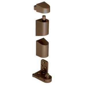 CRL 0P34LHDU Dark Bronze Offset Left Hand Pivot Set Flush with Frame Face