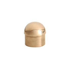 "CRL HR20DPB Polished Brass Dome End Cap for 2"" Tubing"