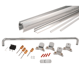"""CRL CK386072BA Brite Anodized 60"""" x 72"""" Cottage CK Series Sliding Shower Door Kit With Clear Jambs for 3/8"""" Glass"""