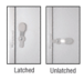 """CRL 905A Satin Anodized 2-5/8"""" x 9-5/8"""" Deluxe Mail Slot With Glass Channel Bar and Latch"""