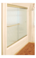 "CRL CK386080BGA Brite Gold Anodized 60"" x 80"" Cottage CK Series Sliding Shower Door Kit with Clear Jambs for 3/8"" Glass"