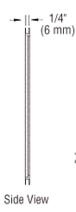 "CRL MS125DU Bronze Anodized 2-5/8"" x 12-1/8"" Standard Mail Slot"